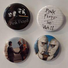 Set of 4 Button Badges. Size: 25 cm (1 inch). Button Badge, Pink Floyd, Badges, Buttons, Badge, Knots, Lapel Pins, Plugs