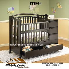Simmons Hutton Sleigh Crib Fixed Side Convertible Crib In