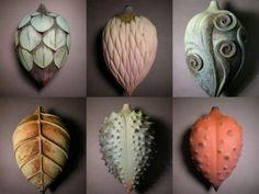 Alice Ballard, ceramic pods. Wow!  She is a wonderful teacher.  Loves nature and so do I.