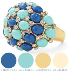 Inspiring Seasonal Wedding Color Palettes based onJewelry - perfect for summer