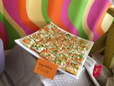 Vegetable pizza, party food, bright food, colorful food, birthday party