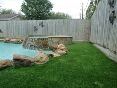 No more cutting the grass here. SYNLawn around pools