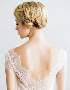 Gorgeous Hair | Delicate Wedding Dresses from Saint Isabel