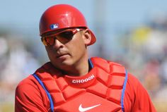 Carlos Ruiz Has Baby Chooch at Perfect Time Phillies Baseball, Sports Highlights, Perfect Game, Home Team, Philadelphia Phillies, Bicycle Helmet, Mlb, My Style, Eagles