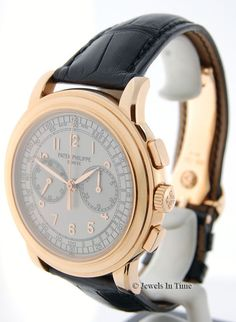 Patek Philippe 5070 18K Rose Gold Chronograph Mens Watch Box/Papers 5070R #PatekPhilippe #LuxuryDressStyles
