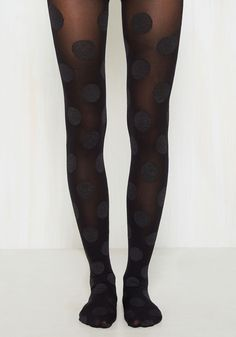 Dressed to Dance Tights in Noir - Black, Polka Dots, Print, Good, Pinup, Knit, Party, Cocktail, Holiday Party, Fall, Winter