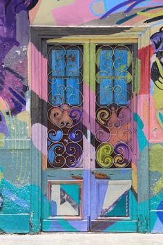 The best art in Lima, Peru lies in its many colorful doors, alleyways, and street markets.