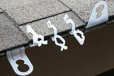 24Pcs Gutter Hang Hooks Xmas Light Clips Home Plastic Hook Hanging Decor New