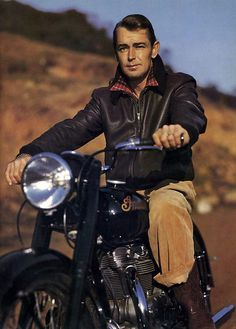 Alan Ladd on a motorcycle.  Cuz I didn't need my brain anymore today, right?