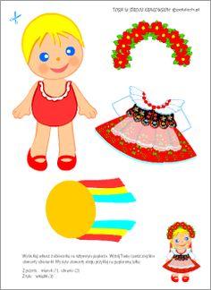 Paper Dolls, Folk Art, Diy And Crafts, Disney Characters, Fictional Characters, Techno, Education, Disney Princess, Polish