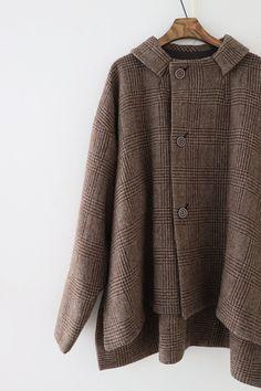 라르니에 정원 LARNIE Vintage&Zakka Sweater Coats, Men Sweater, Sweaters, Baggy Clothes, Baby Sewing, All About Fashion, Blazer Jacket, Winter Outfits, Winter Fashion