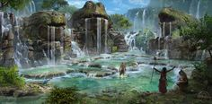 ArtStation - Chaos in the old World: Fountains of Rebirth, Marco Gorlei
