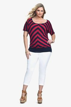 This mitered stripe top is so chic.