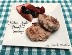 Chicken Apple Sausage Breakfast Recipe - My Family Mealtime #chickensausage