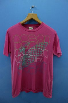 2647331595 Vintage Ocean Pacific Big Logo Shirt Surf Surfing Street Wear T Shirt Top  Tee Size M
