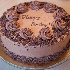 tort ciocolata si branza Lucky Cake, Birthday Wishes, Birthday Cake, Nutella, Happy B Day, Tiramisu, Cookie Recipes, Caramel, Cheesecake