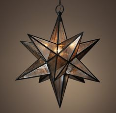 Moravian Star Pendant - Aged Iron. Restoration Hardware. Some day I want this light in my front porch.