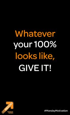 Whatever YOUR 100% looks like, GIVE it! #MondayMotivation #fitness #inspiration #getPOWd Inspiration For The Day, Fitness Inspiration, Healthy Energy Drinks, Natural Energy, How To Increase Energy, Feeling Great, Monday Motivation, Fitspiration, The 100