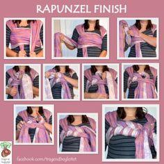 Tutorial: Saras Rapunzel Finish for a woven wrap (size 6-7)
