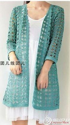 20 Ideas for knitting cardigan pattern crochet shrugs Crochet Jacket Pattern, Gilet Crochet, Crochet Blouse, Crochet Shawl, Crochet Patterns, Crochet Shrugs, Shrug Pattern, Free Pattern, Chunky Crochet Scarf