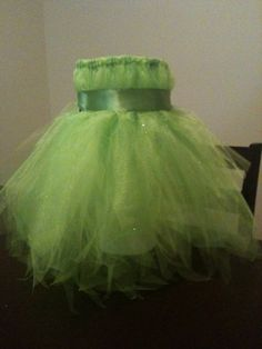 Tinkerbell Costume I made for my niece, all it needs is wings and a wand!