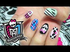 ▶ Monster High Nails + Giveaway! - YouTube