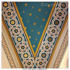 Heaven3 #Bahaullah, #Blue, #Budapest, #Ceiling, #Contrast, #Davidstar, #Gold, #Heart, #Heaven, #Hiddenwords, #Quote, #Stars, #Synagoge, #White - https://goo.gl/m4UWL5