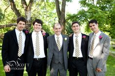groom and his men    from the desk: What We Wore