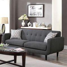 Wildon Home Stansall Sofa Upholstery: Charcoal Living Room Grey, Living Room Sets, Living Room Designs, Living Room Furniture, Living Room Decor, Home Furniture, Small Living Room Design, Furniture Vanity, Vanity Desk