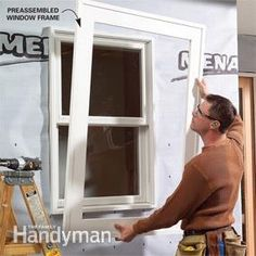 PVC trim looks and cuts like wood and it lasts forever, but there are a few special installation techniques you need to know about to install it successfully. Pvc Window Trim, Outdoor Window Trim, Pvc Trim, Diy Exterior Window Trim, Side Window, Vinyl Siding Installation, Garage Door Trim, Garage Doors, Trim Carpentry
