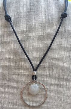 Black leather and Sterling silver