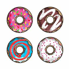 Donuts..   Pick your favorite..  __________________________________________________ #design #illustration #draw #sketch #dribbble #colorful #donut #donuts #vector #thedesigntip #minimal #sweet #art #icon #graphicdesignblg #pirategraphic #graphicroozane #food #graphicdesigncentral #graphicgang #icondesign #pencildrawing #simpsons #cream #vector #iconaday #chocolate #caramel #minimal #pink #sprinkles