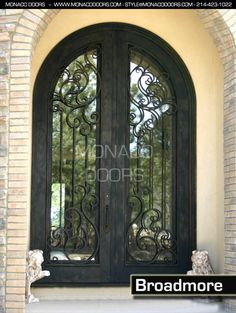 front doors austinSpanish Arched Double Entry Doors  Double Iron Door with Transom