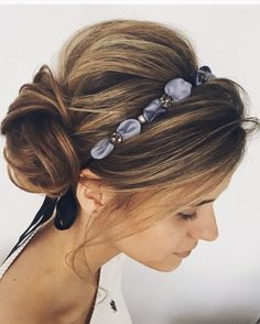 Great hairstyle to add unique style by choosing your very own headband  | Lena Bogucharskaya