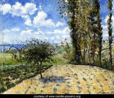 View Towards Pontoise Prison, in Spring, 1881 - Camille Pissarro - www.camille-pissarro.org