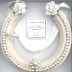 Bridal Wedding Real Lucky HorseShoe Good Luck  Gift,  with Guardian Angle,IVORY by WightLuckyHorseShoes on Etsy