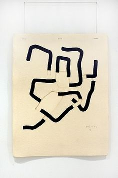 Eduardo Chillida - scroll down to view extensive body of work exploring line & shape both 2 & Contemporary Abstract Art, Modern Art, Collages, Collage Art, Action Painting, Abstract Words, Fine Art Photography, Installation Art, Paper Art