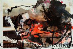 Dessin Original sur photographie Morgan Merrheim Art Singulier paysage abstrait
