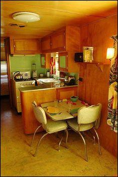 Normous Camper Trailer Inside Design Concepts for You , , vintagerv Retro Trailers, Retro Campers, Vintage Travel Trailers, Vintage Campers, Vintage Airstream, Vintage Camper Interior, Trailer Interior, Rv Interior, Interior Ideas