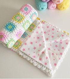 Crochet Flower Patterns, Crochet Blanket Patterns, Baby Knitting Patterns, Baby Blanket Crochet, Knitting Yarn, Crochet Baby, Diy Crafts Crochet, Crochet Projects, Manta Crochet
