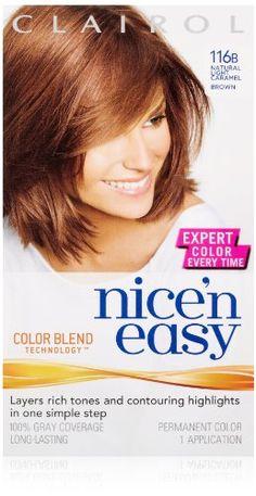 Clairol Nice 'N Easy Hair Color Natural Light Caramel Brown 1 Kit Caramel Brown Hair, Best Hair Dye, Hair Color Shades, Full Hair, Color Blending, Pretty Hairstyles, Dyed Hair, Natural Light, Hair Makeup