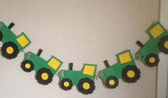 Large green and yellow tractor banner John deere birthday party on Etsy, $28.00