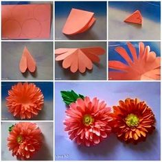 Flower twisting craft tutorial quick and easy craft pinterest diy paper dahlias flower add this beautiful paper flower to your cards mightylinksfo
