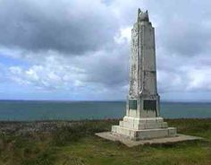 Marconi memorial in Poldhu Cornwall UK, Agnes Baden-Powell, co-founder of Girl Guides was an early collaborator of Marconi.