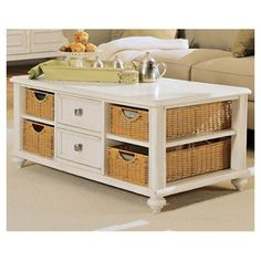 8c28a7421e1713 Beachcrest Home Wheelock 2 Drawer Coffee Table Color  Buttermilk