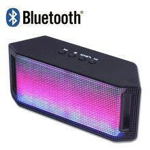 2016 New Mini Colorful LED Lights Pulse Wireless Bluetooth 2.0 Speaker Handsfree TF AUX FM Radio for iPhone 6S Samsung S6 Edge