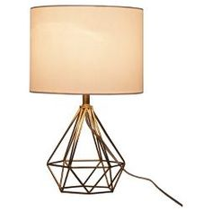 Diamond Wire Table Lamp Brass Base CA   Threshold™
