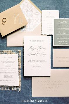 Bohemian brides, these muted tones are right up your alley. If you're tying the knot somewhere more arid where a saturated, woodsy palette would clash with the scenery, opt for toned-down versions of the same seasonal hues, as Emily Baird did for the suite at this Evoke DC wedding. #weddingideas #wedding #marthstewartwedding #weddingplanning #weddingchecklist Fall Wedding Invitations, Letterpress Wedding Invitations, Wedding Stationary, Invites, Autumn Inspiration, Wedding Inspiration, Flourish Calligraphy, Modern Romance, Bohemian Bride