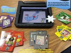 Instant Listening Center with a Twist!  This is a Favorite Author Bundle consisting of 40 Stories!  Students scan the QR Code and watch and listen to the story!  Independent, Engaging and FUN!  - end of the year activity
