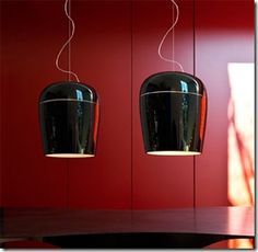 Very nice blown glass lamps from Prandina of Italy!